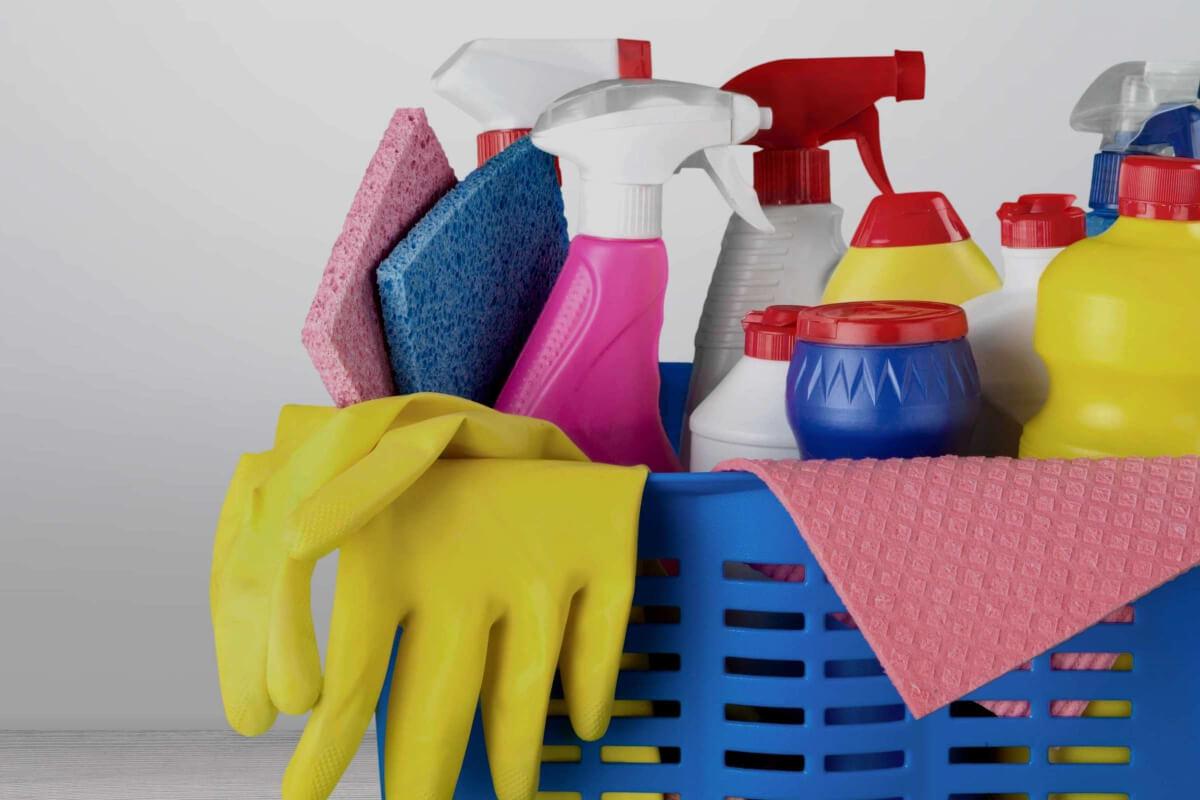 Productos de limpieza de un centro de salud